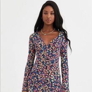 ASOS DESIGN - Tall long sleeve button tea dress